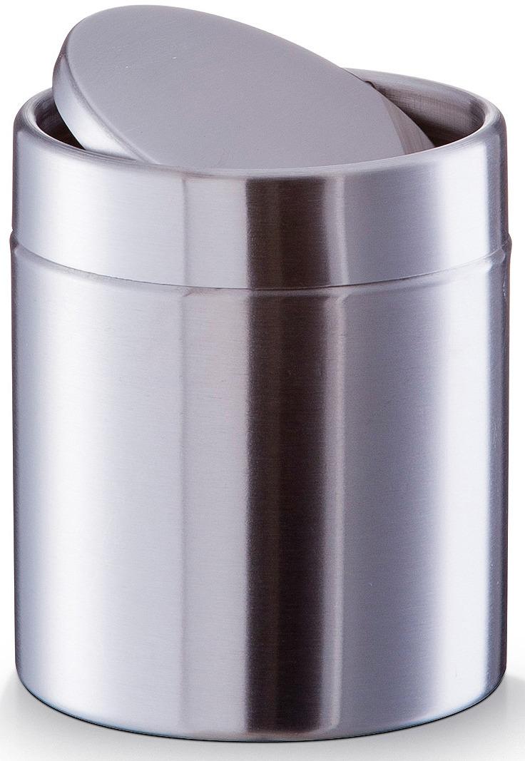 Фото - Контейнер для мусора Zeller, настольный, 18408, серый металлик, 14 х 11,5 х 11,5 см держатель для кухонного полотенца zeller на присосках 14 х 14 х 33 см