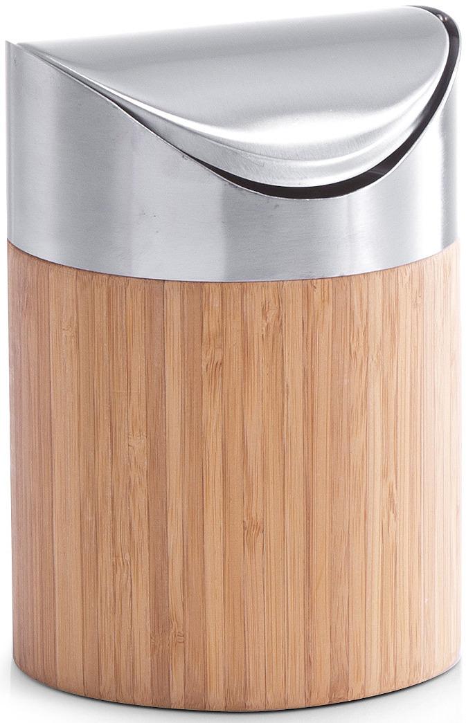Контейнер для мусора Zeller, настольный, 25281, светло-коричневый, 17 х 12 х 12 см контейнер для мусора tescoma clean kit настольный цвет белый 2 4 л