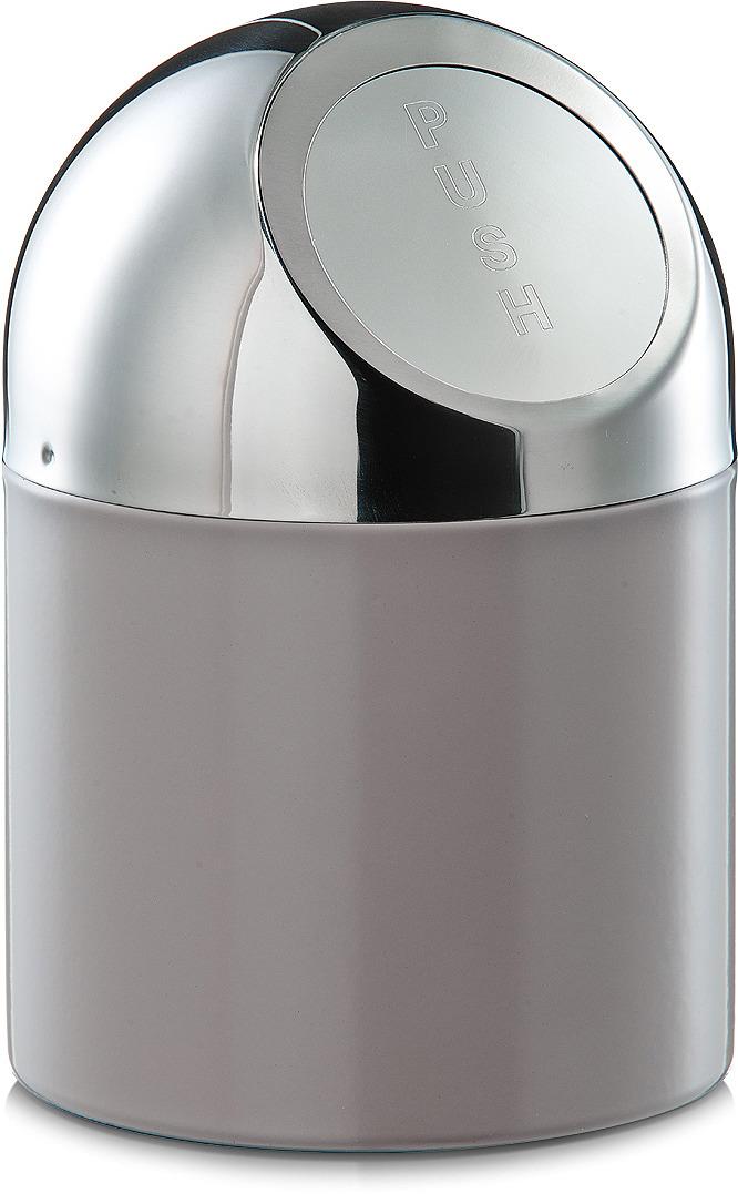 Контейнер для мусора Zeller, настольный, 27202, темно-серый, 18 х 12 х 12 см контейнер для мусора tescoma clean kit настольный цвет белый 2 4 л