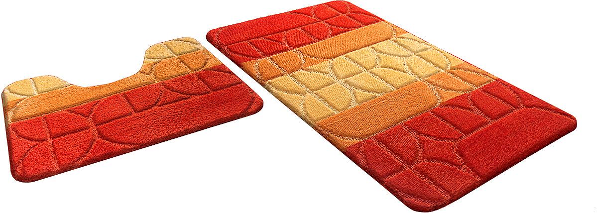 Набор ковриков для ванной Shahinteх, 5364, оранжевый, 2 шт