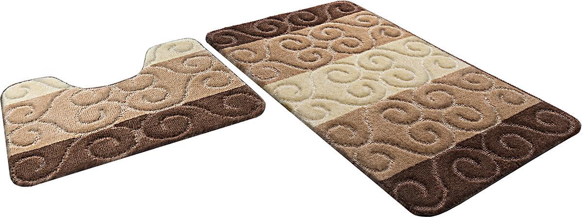 Набор ковриков для ванной Shahinteх, 5369, коричневый, 2 шт