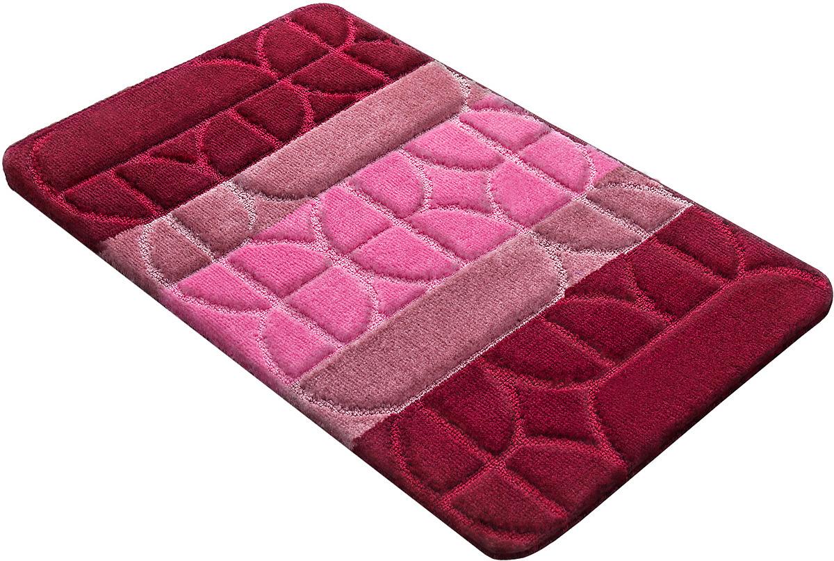 Коврик для ванной Shahinteх PP Mix 4K, 5385, бордовый, 100 х 60 см