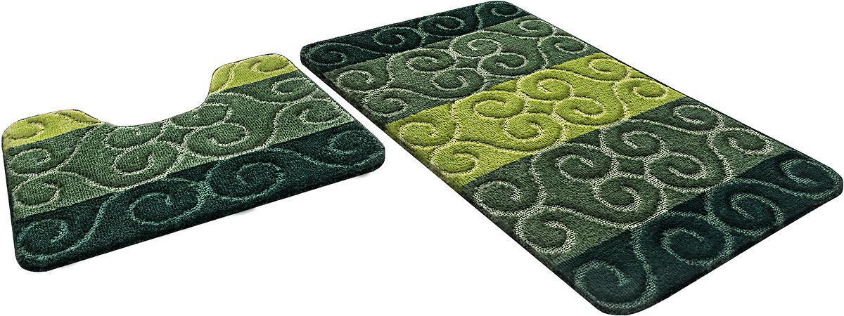 Набор ковриков для ванной Shahinteх, 5395, зеленый, 2 шт