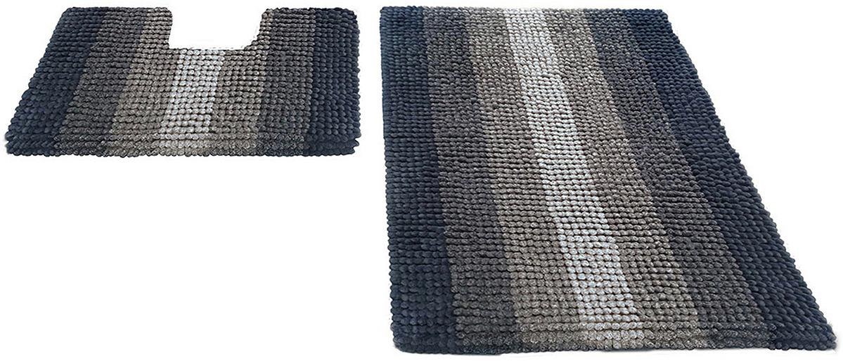 Набор ковриков для ванной Shahinteх, 5488, бежевый, 2 шт