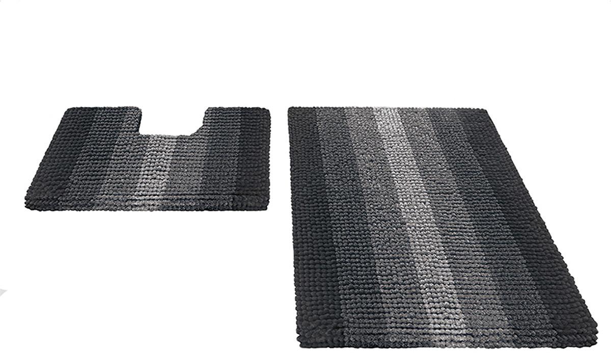 Набор ковриков для ванной Shahinteх, 5489, черный, 2 шт