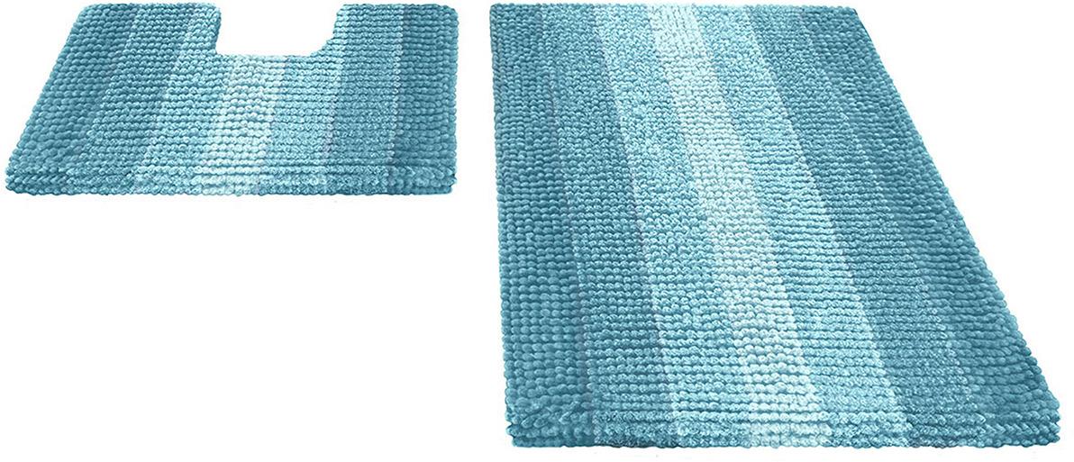 Набор ковриков для ванной Shahinteх, 5503, голубой, 2 шт