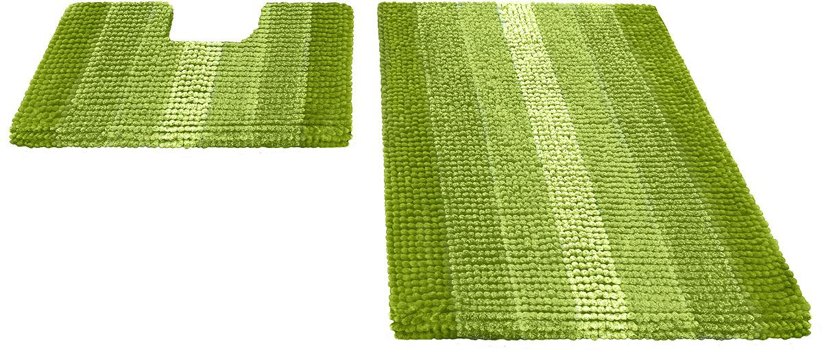 Набор ковриков для ванной Shahinteх, 5504, зеленый, 2 шт