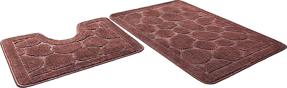 Набор ковриков для ванной Shahinteх, 5622, шоколадный, 2 шт