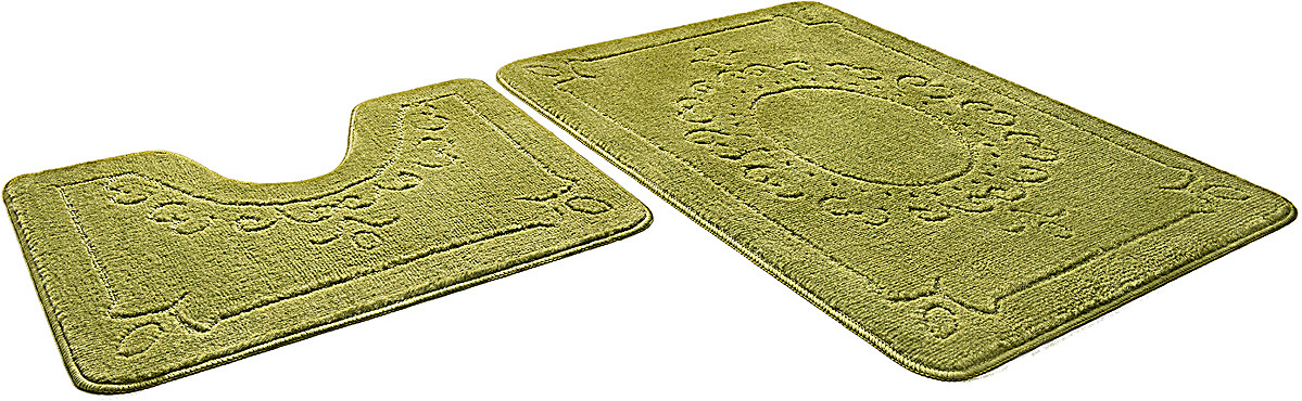 Набор ковриков для ванной Shahinteх, 7318, светло-зеленый, 2 шт