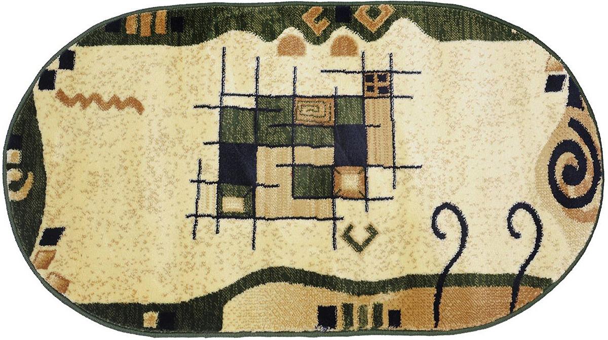 Ковер Kamalak Tekstil, овальный, 100 x 150 см. УК-0339 ковер kamalak tekstil прямоугольный цвет кремовый 100 x 150 см ук 0400