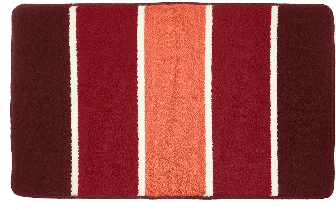 Коврик для ванной Kamalak Tekstil, УКВ-1072, бордовый, 100 х 60 см