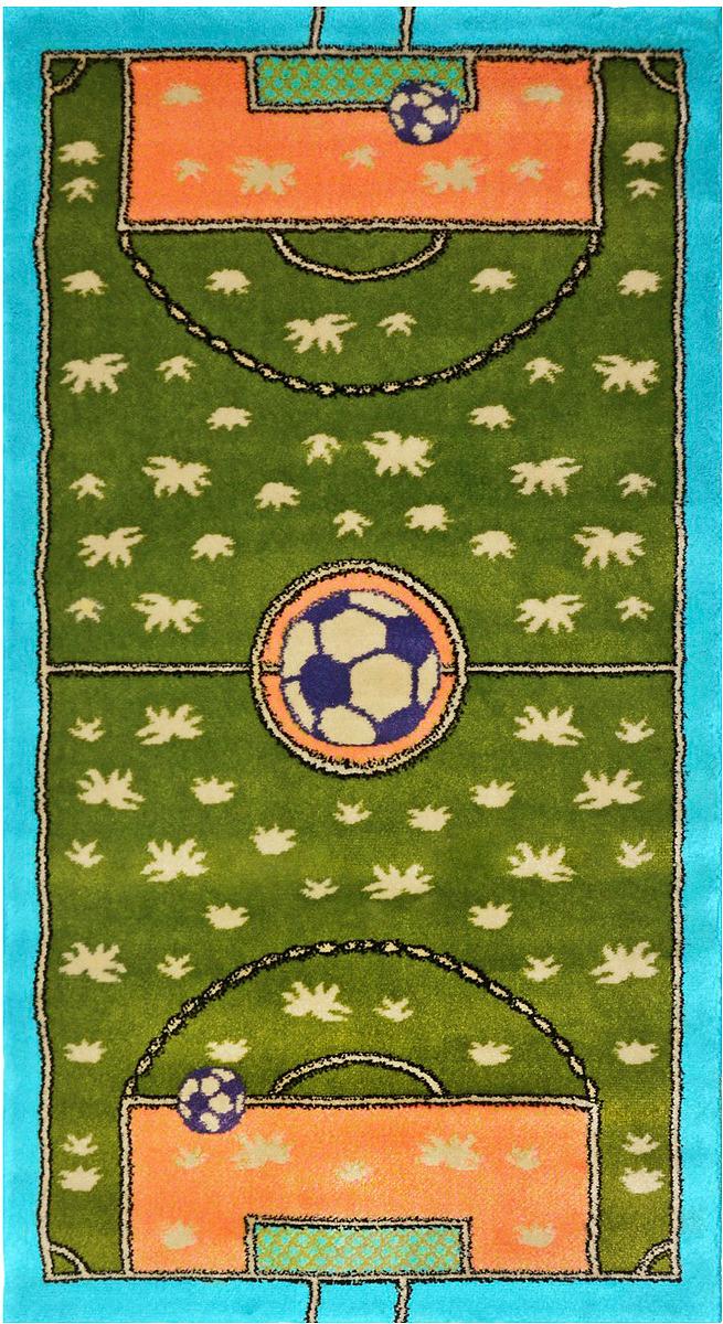 Ковер детский Kamalak Tekstil Футбол, прямоугольный, 100 x 150 см ковер kamalak tekstil прямоугольный цвет кремовый 100 x 150 см ук 0400