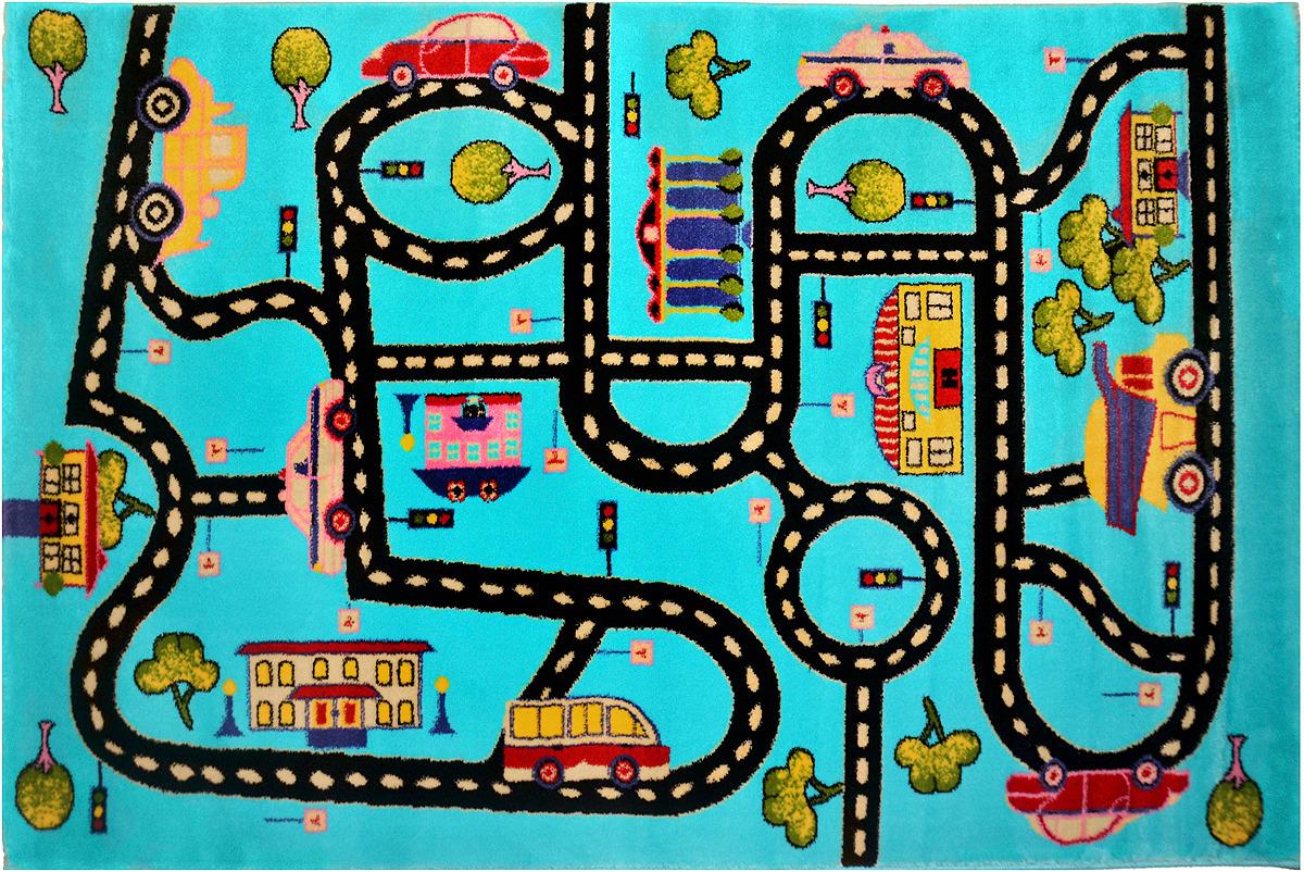 Ковер детский Kamalak Tekstil Дороги, прямоугольный, 100 x 150 см ковер kamalak tekstil прямоугольный цвет кремовый 100 x 150 см ук 0400