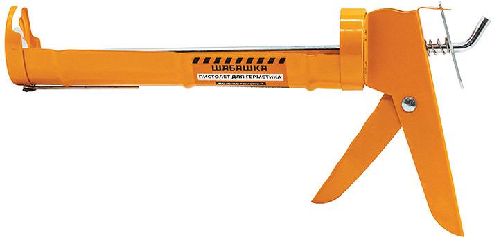 Пистолет для герметика Шабашка, 015-0003, оранжевый пистолет для герметиков neo 61 003