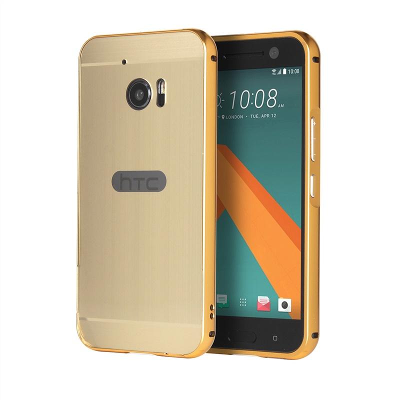 Металлический защитный чехол для HTC M10/HTC 10 (золотистый) htc hd2 новый