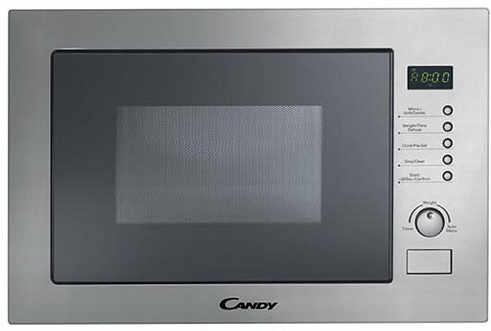 Микроволновая печь Candy MIC 25 GDFX, серебристый микроволновая печь bbk 23mws 927m w 900 вт белый