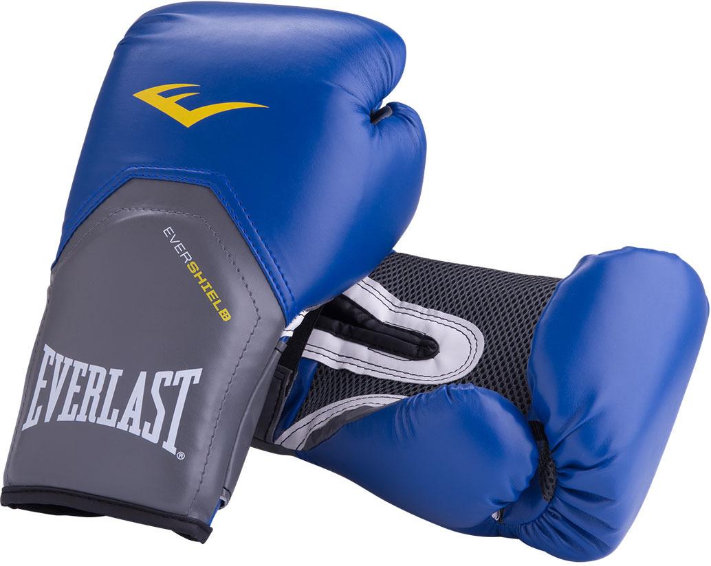 Боксерские перчатки Everlast ProStyle Elite, цвет: синий. Вес 12 унций перчатки боксерские everlast pro style elite 2112e цвет красный 12 oz