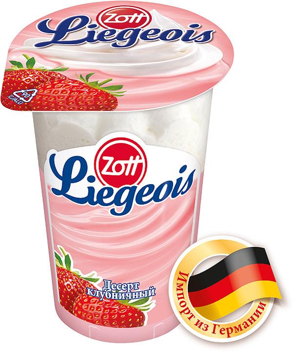 Десерт Zott LiegeoisZott Liegeois Клубничный 2,4% , со сливочным муссом, 175 г