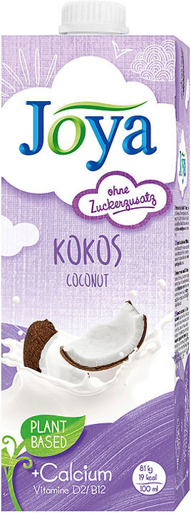 Растительное молоко JoyaCoconut pure, ультрапастеризованное, 1 л