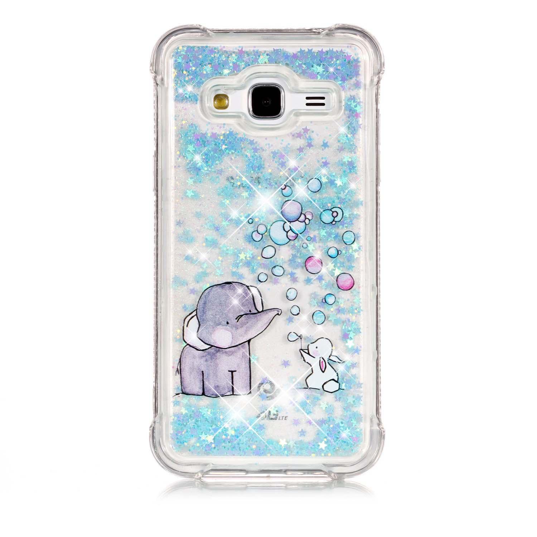 Samsung Galaxy J3 (2016) J310 Назад Чехол Slim Fit Плавающий жидкий Мягкий корпус телефона TPU Ударопрочный защитный чехол Пузыри слон цены онлайн