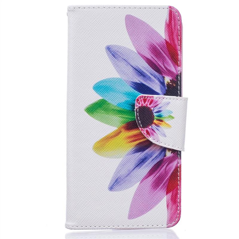 Флип-чехол подставка с цветочным принтом из PU кожи для LG K7 / K8