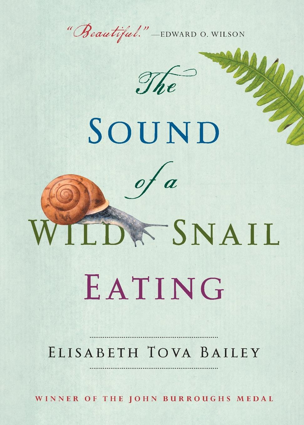 Elisabeth Tova Bailey The Sound of a Wild Snail Eating derek bailey and the story of free improvisation