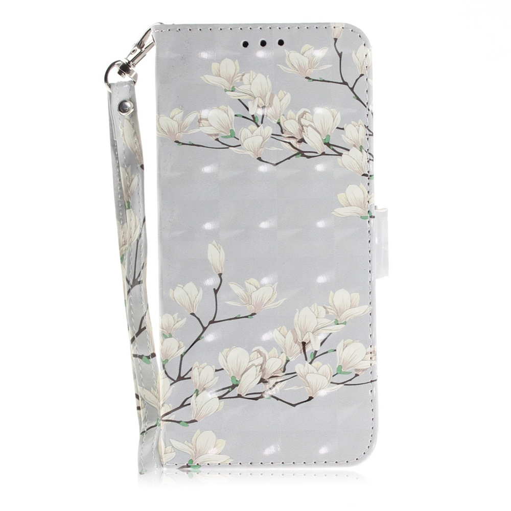 Чехол-подставка из искусственной кожи с магнитной застежкой, принтом и отделениями для карт для Huawei Honor 9 Lite