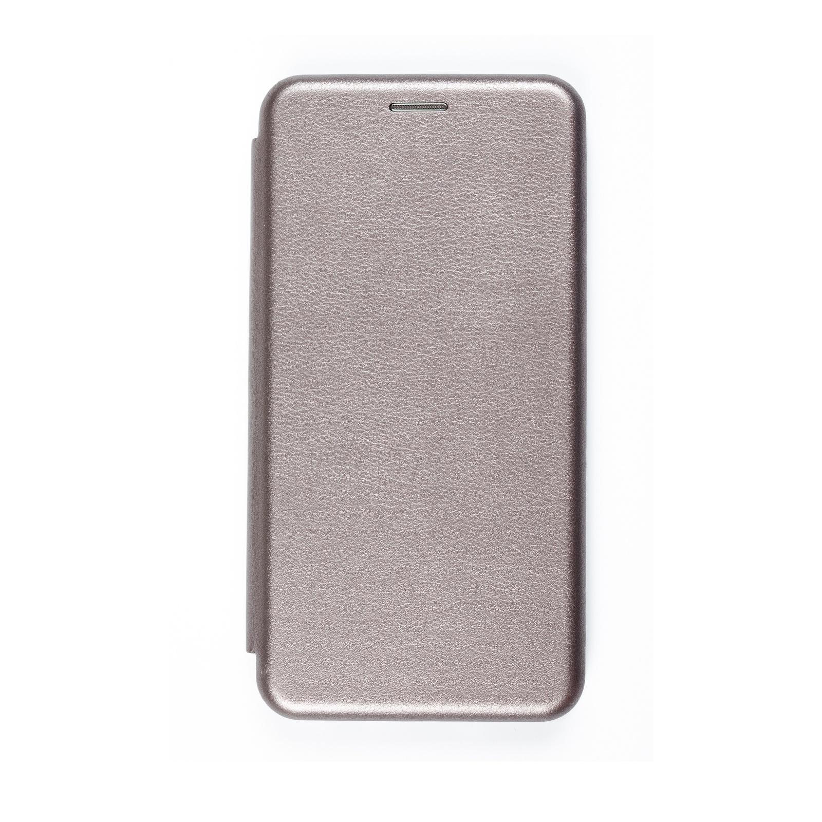 Чехол для сотового телефона книжка для Huawei Honor 10 Lite/P Smart (2019), серый металлик