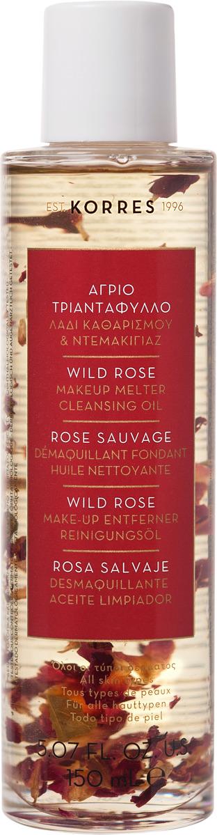 Масло для снятия макияжа Korres Дикая роза, 150 мл цена