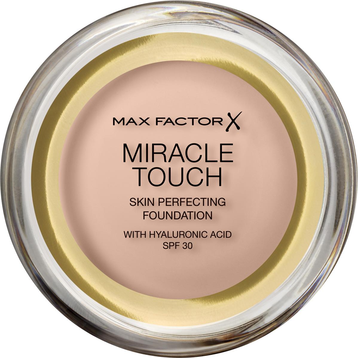 Тональная основа Max Factor Miracle Touch, SPF 30, тон 35 Pearl Beige, 11 мл max factor тональная основа miracle match тон bronze 80