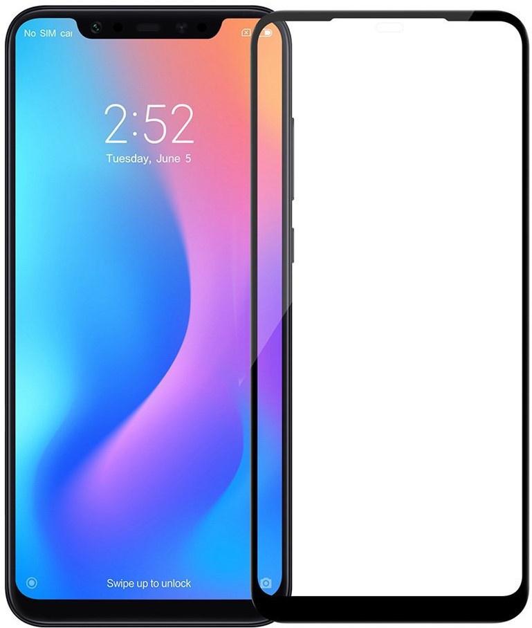 Защитное стекло Premium на весь экран для Xiaomi Redmi Note 7 черного цвета