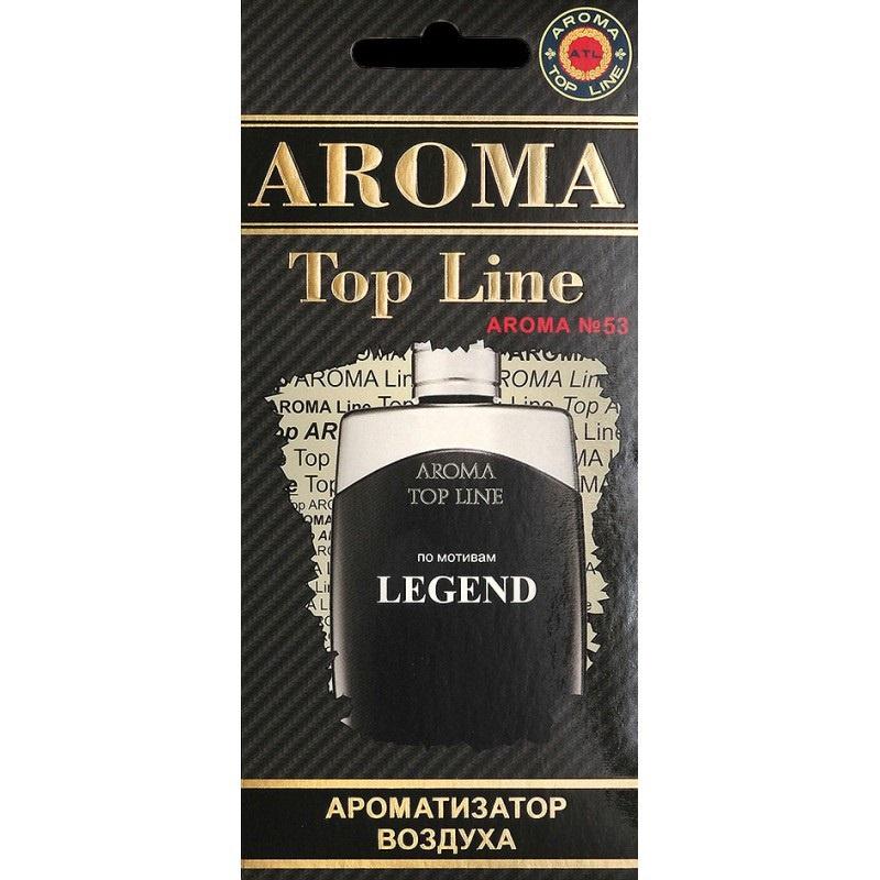 Автомобильный ароматизатор AROMA TOP LINE 53 Mont Blanc LEGEND автомобильный ароматизатор golden snail aroma football ванильный крем