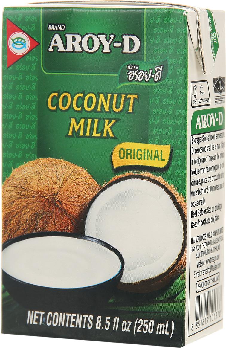 цена на Aroy-d Кокосовое молоко 70% жирность 17-19%, 250 мл