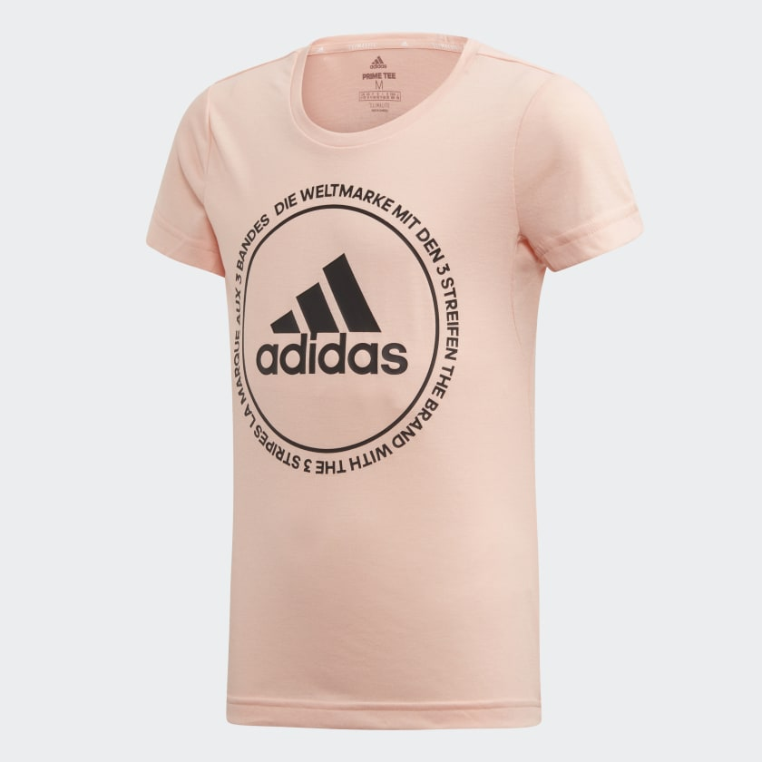 Футболка для девочки Adidas Yg Tr Prime Tee, цвет: розовый. ED6330. Размер 164 футболка для девочки acoola lomani цвет серый 20210110138 1900 размер 164
