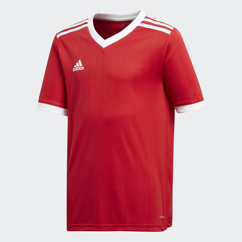 Футболка для мальчика Adidas Tabela 18 Jsyy, цвет: красный. CE8914. Размер 164 футболка для мальчика fila цвет черный a19afltsb03 99 размер 164