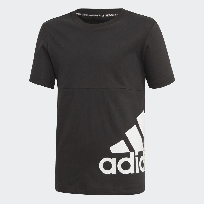 Футболка для мальчика Adidas Yb Mh Bos T2, цвет: черный. ED6464. Размер 164 футболка для мальчика fila цвет черный a19afltsb03 99 размер 164