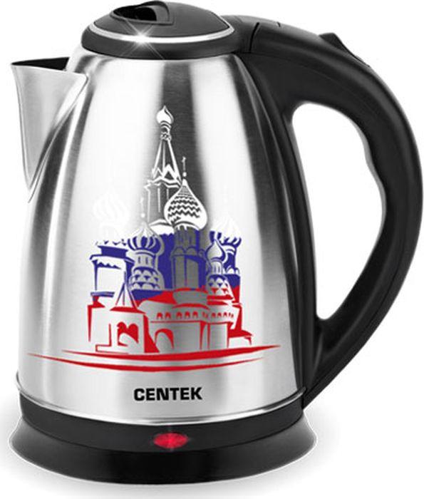 лучшая цена Электрический чайник Centek CT-0050 Собор, серый металлик