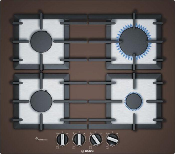 Варочная панель Bosch PPP6A4B90R, коричневый газовая варочная панель bosch pbh6c2b90r