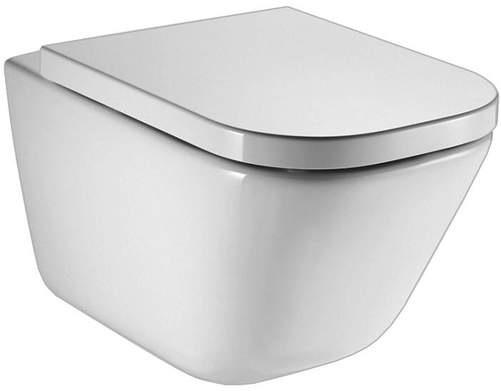 Унитаз Roca подвесной, безободковый, белый сиденья для унитаза папитто накладка детская на унитаз универсал
