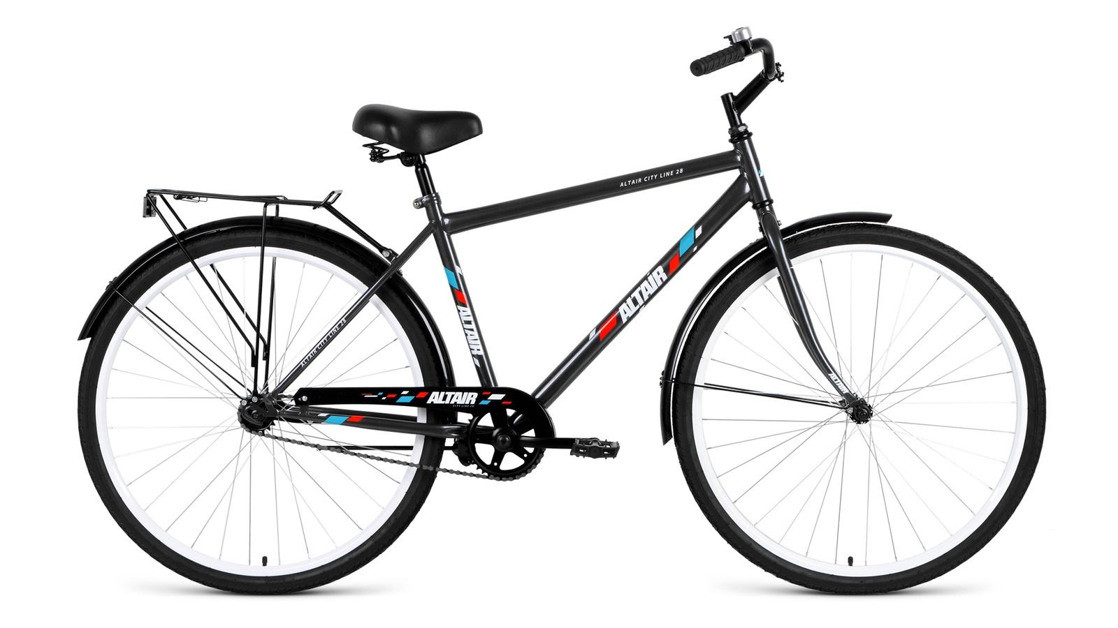 Велосипед ALTAIR City high 28, серый altair city low 28 19 2016 white