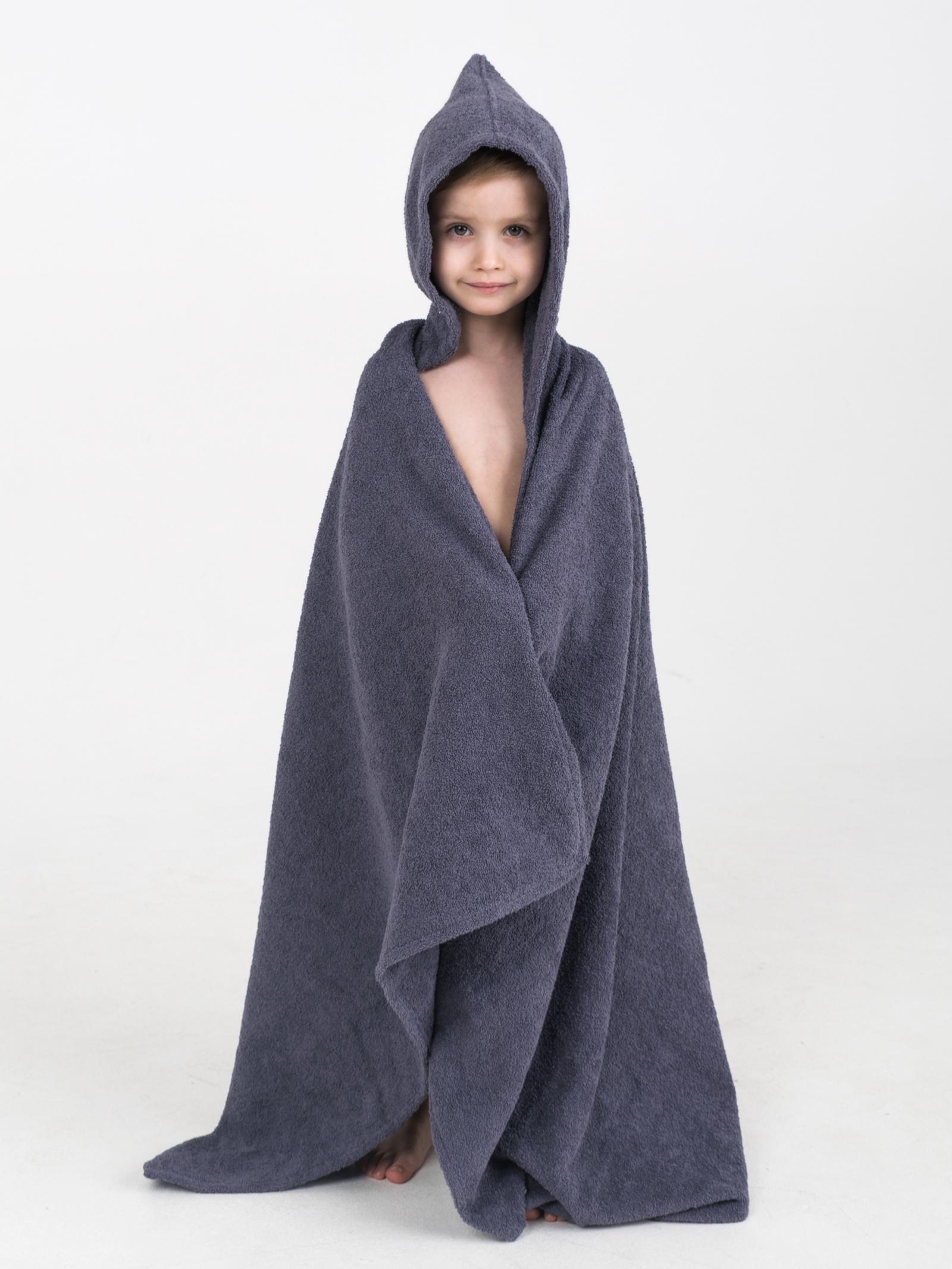 Полотенце детское BabyBunny Полотенце с капюшоном - Серое, M, серый 3 sprouts детское полотенце с капюшоном морж blue walrus 28649