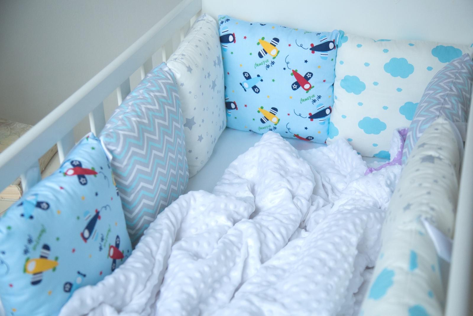 Комплект в кроватку БП10026, голубой