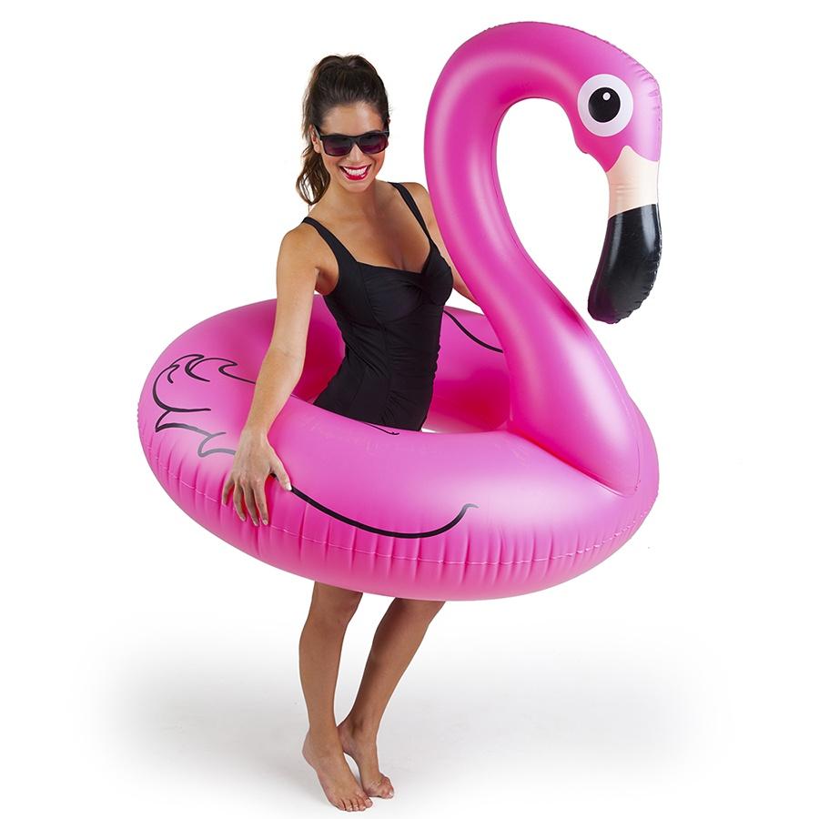 Матрас надувной для плавания BigMouth Круг Pink Flamingo, розовый