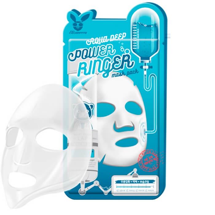 Увлажняющая тканевая маска для лица Elizavecca с гиалуроновой кислотой. garnier маска тканевая для сухой и чувствительной кожи комфорт увлажняющая