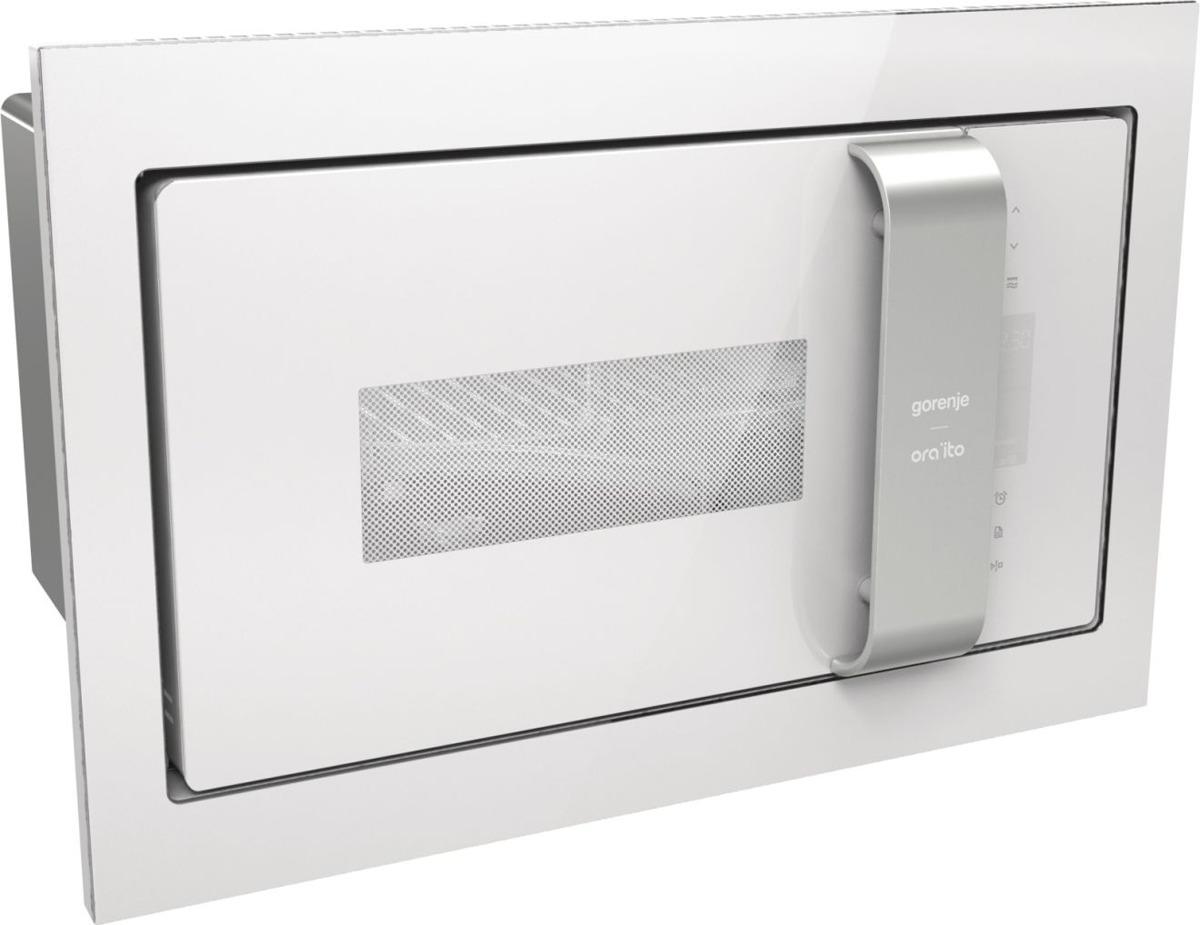 цена Микроволновая печь Gorenje BM235ORAW, 900Вт, встраиваемая, цвет белый/серебристый онлайн в 2017 году