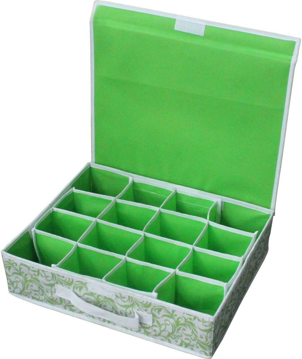 Коробка Рыжий кот, 312145, для хранения нижнего белья, 16 ячеек нижнее белье коробка для хранения складные ящики для хранения трусов носки главная хранение и организация