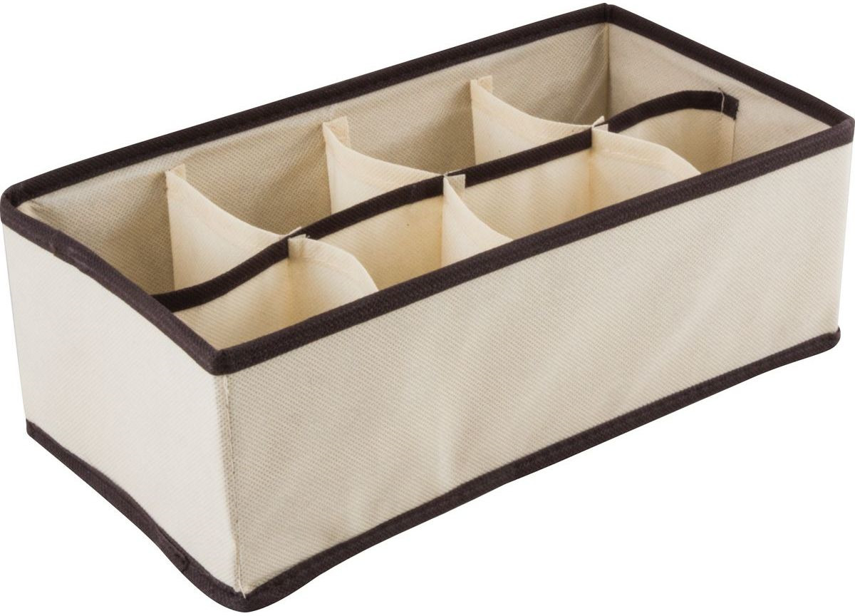 Коробка для хранения Рыжий кот, 312561, 8 ячеек, 28 х 14,5 х 10 см нижнее белье коробка для хранения складные ящики для хранения трусов носки главная хранение и организация
