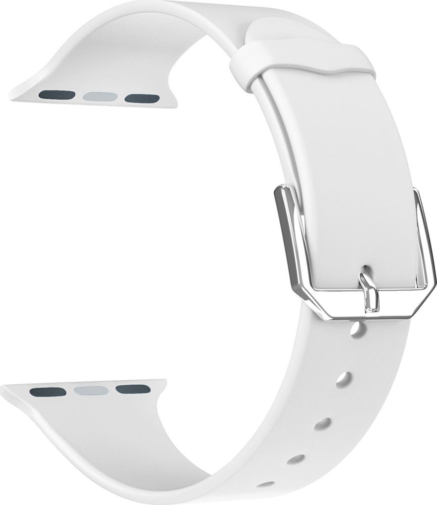 Ремешок для смарт-часов Lyambda Alcor для Apple Watch 42/44 mm, белый подставка just mobile hoverdock st 368 для apple watch алюминий серебристый