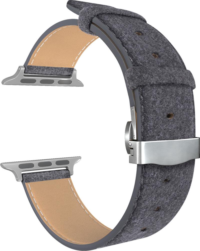 Ремешок для смарт-часов Lyambda Minkar для Apple Watch 42/44 mm, серый катушка индуктивности jantzen cross coil 12 awg 2 mm 3 9 mh 0 42 ohm