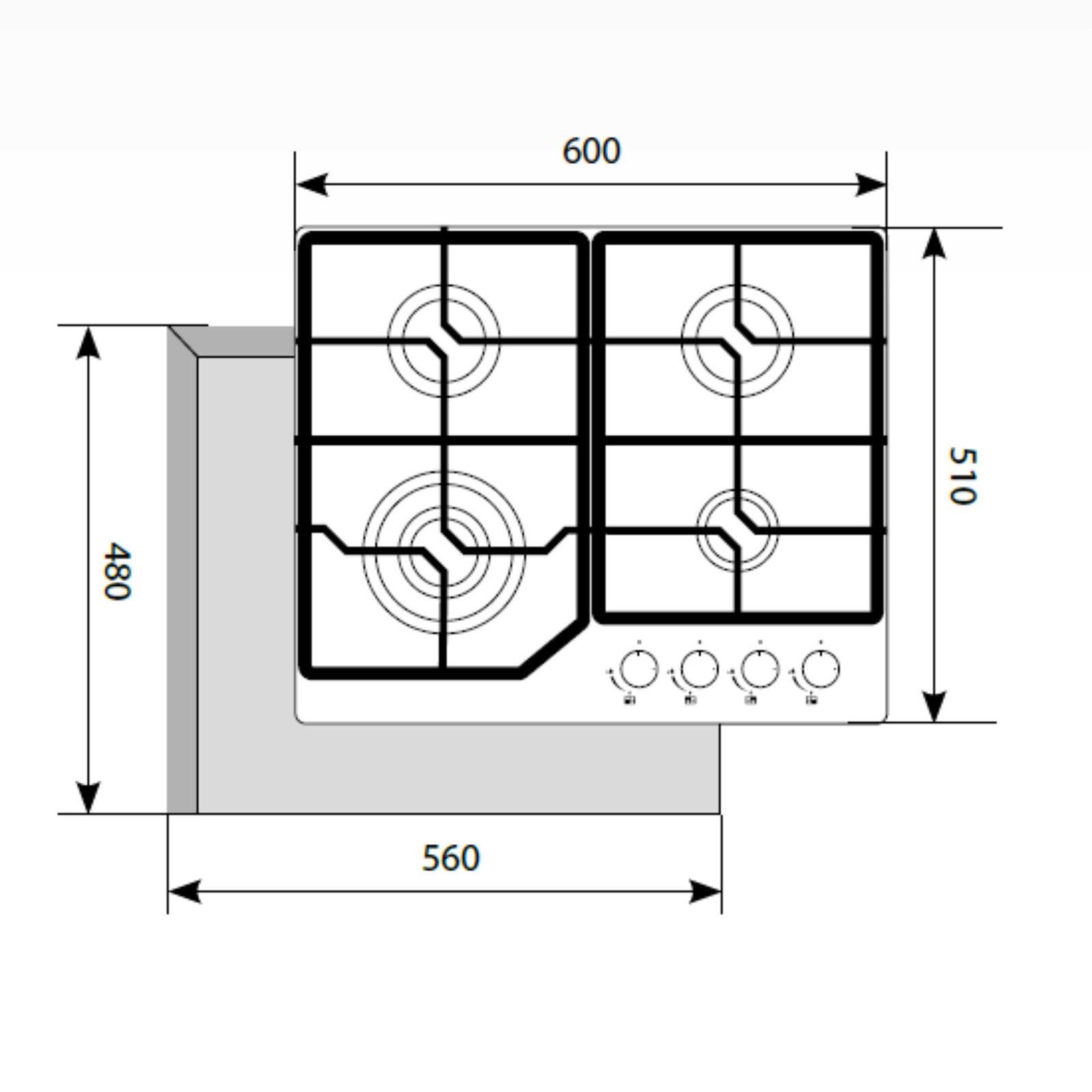 Варочная панель Lex GVG 640-1 BL, черный LEX